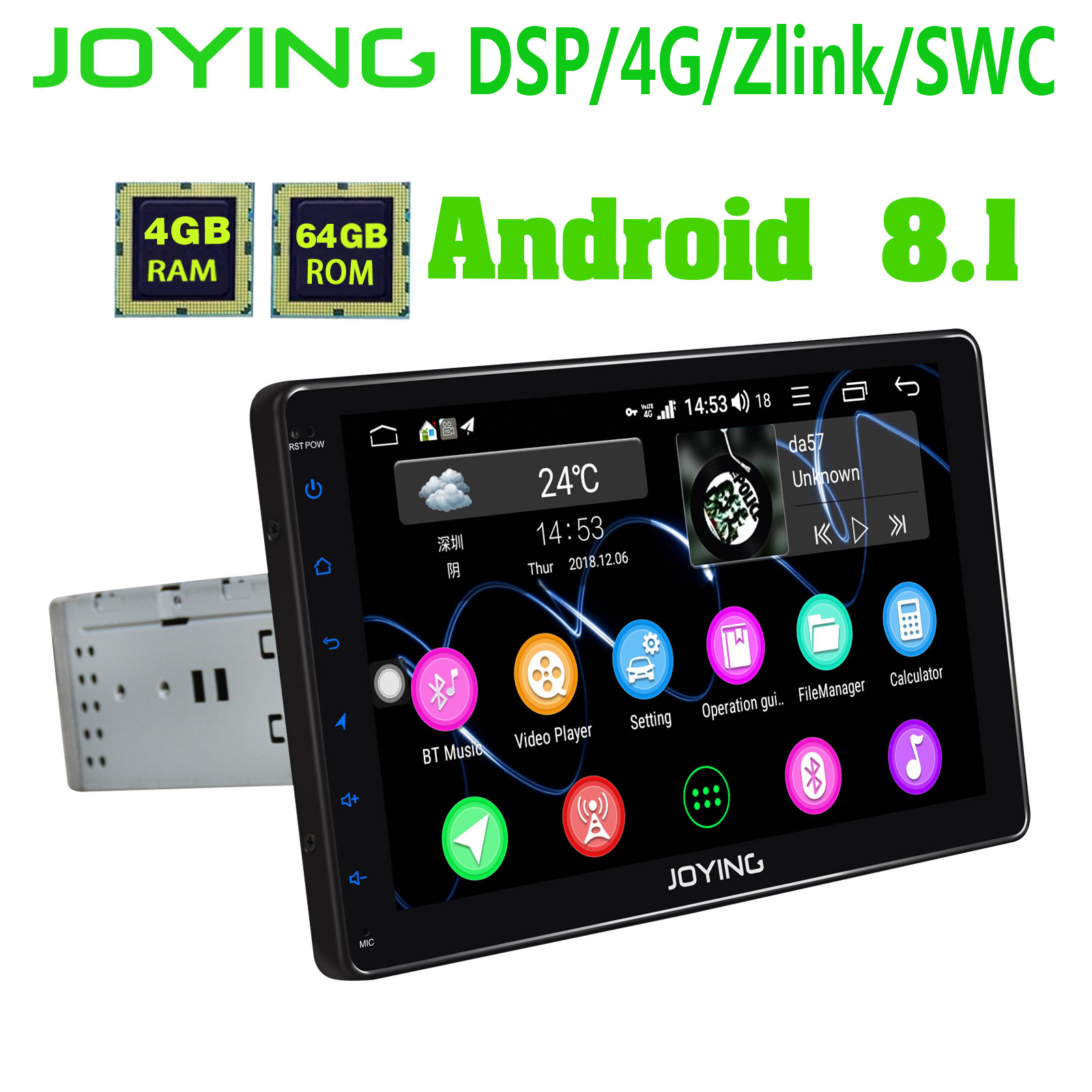 Freeauto Android 6.0 Universal car stereo 17,8 cm doppio 2 DIN in dash Head Unit GPS Nav AM FM radio Player Bluetooth ricevitore USB SD 3 G WiFi DVR cam-in