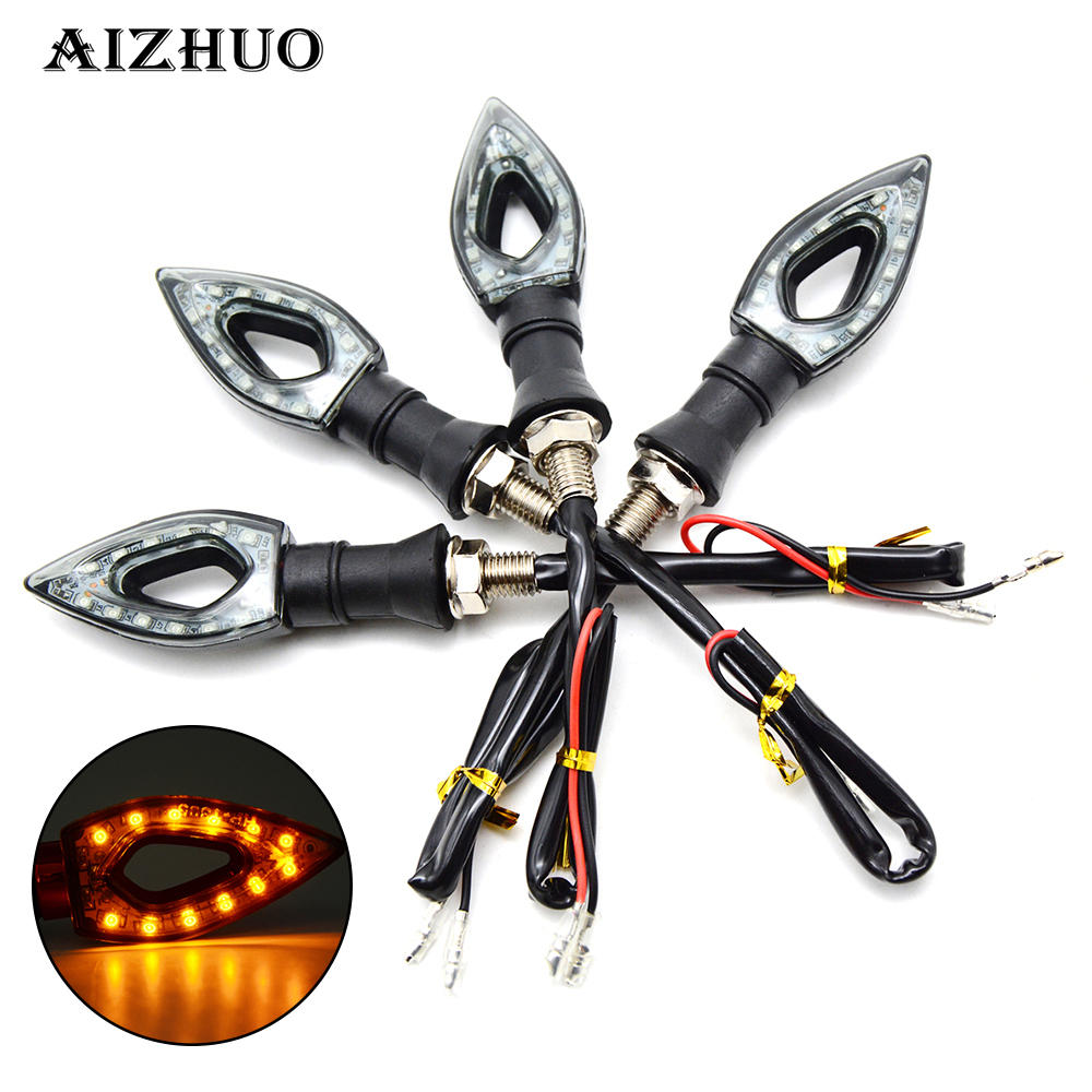 Universal Motocycle Turn Signal Indicators LED Light For Honda VTR1000F / FIRESTORM VTX1300 X-11 CB400 HORNET Benelli BN302