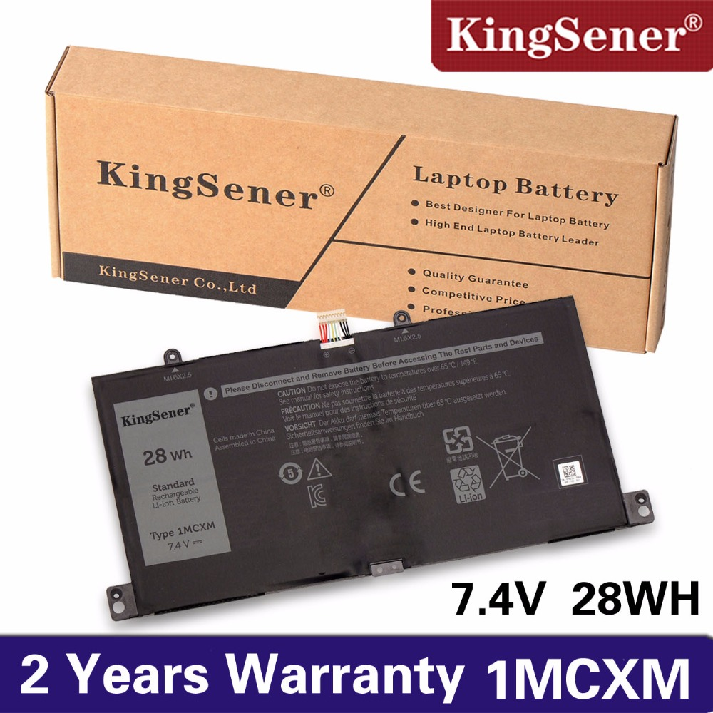 купить KingSener New 1MCXM Laptop Battery For DELL Latitude 5175 1MCXM G3JJT Series Notebook 7.4V 28WH Free 2 Years Warranty по цене 2039.25 рублей