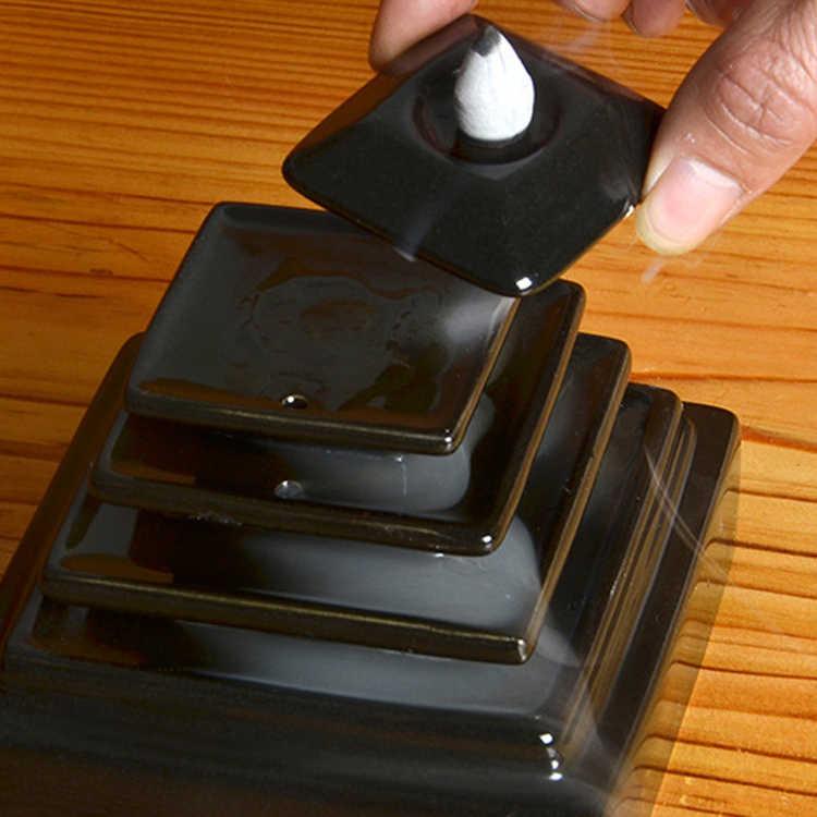 Креативная керамическая башня для благовоний Курильница для благовоний конус держатель использовать в Teaho использовать офис дома буддха украшения