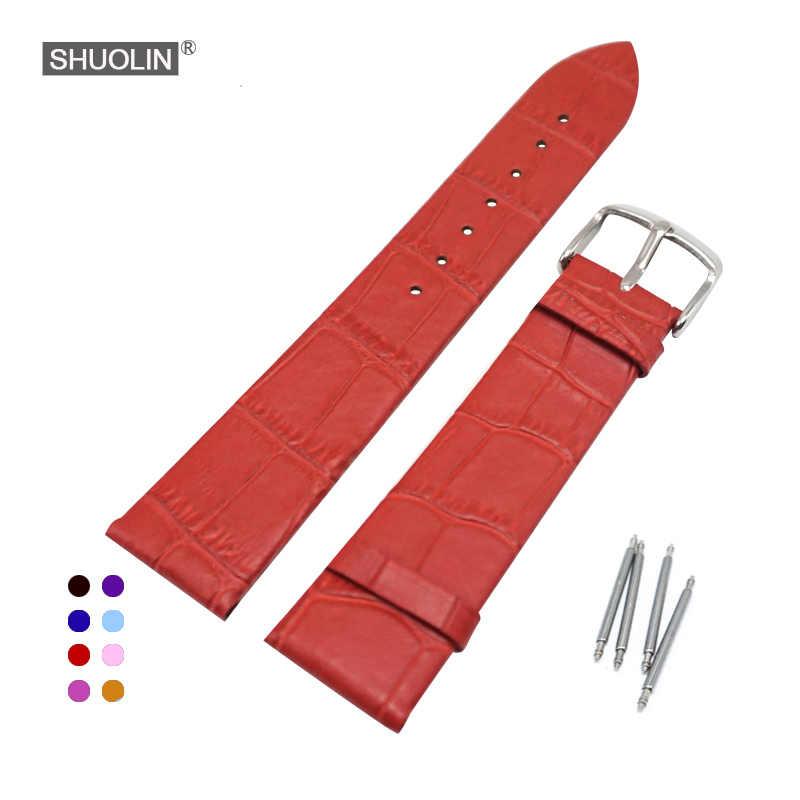 Slub padrão verdadeiro pulseira de relógio couro 12 14 16 18 20 22mm 2020 novo pulseiras 20mm straps18 relogio masculino J022-12