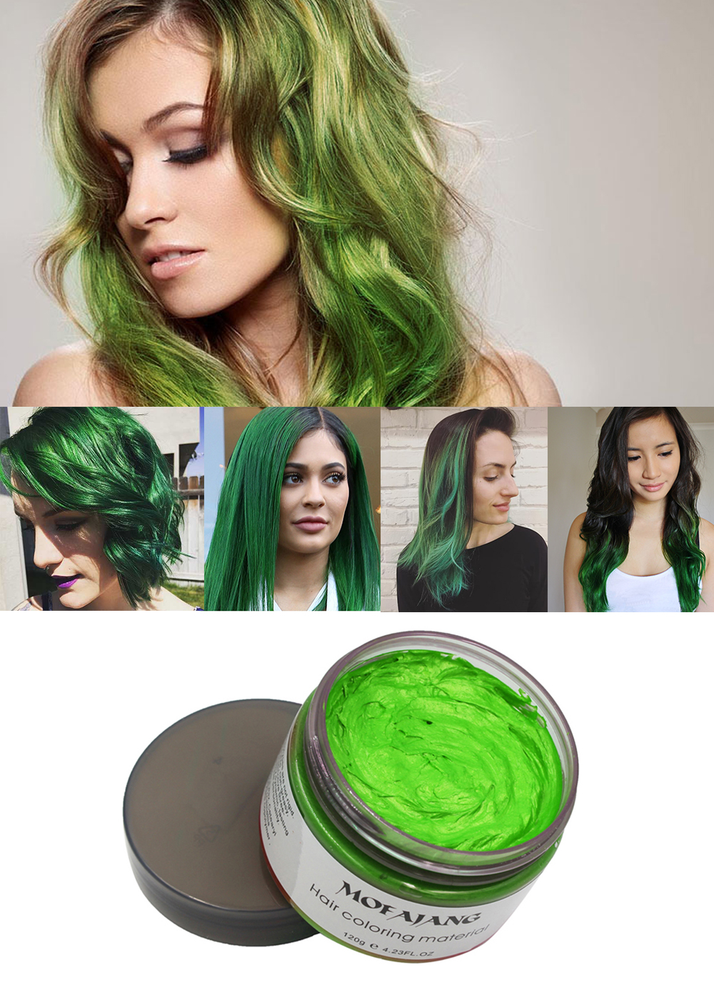 Green hair wax 13