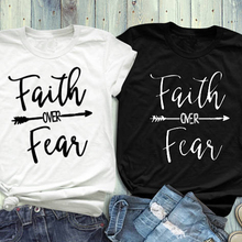 a16c6cf0 SHYUTEE Faith over fear Women Plus Size T-Shirt 5 Colors Summer O Neck Tee  Tshirt