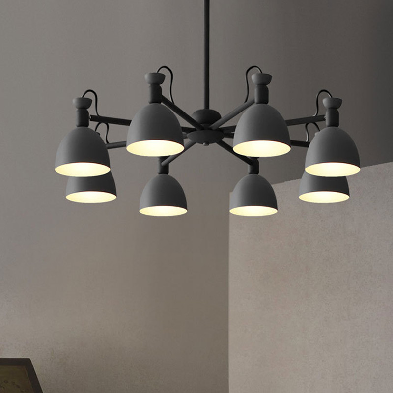 Nordic Wrought Iron Restaurant Chandelier Creative Multicolour Bar Light Cafe Dinner Decoration Suspension Light Fixtures wrought iron upscale led lighting lamps and lanterns chandelier bar creative aisle restaurant lights coffee light cafe bar lamp