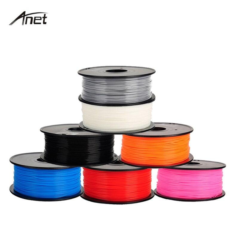 7 Colores 1 KG ABS PLA 3D Filamento Impresora 1.75mm Plástico Caucho Consumibles Material de la Impresora 3D/3D pluma/Reprap Makerbot