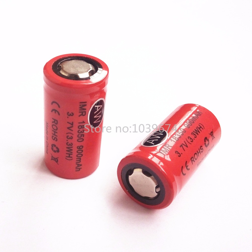 High power 18350 900mah 3.7V 3.6V IMR lithium ion Li-ion rechargeable chargeable battery cell for ego-t flashlights power bank