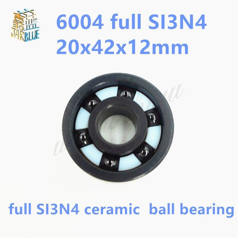 Free shipping 6004 full SI3N4 ceramic deep groove ball bearing 20x42x12mm P5 ABEC5 цена и фото