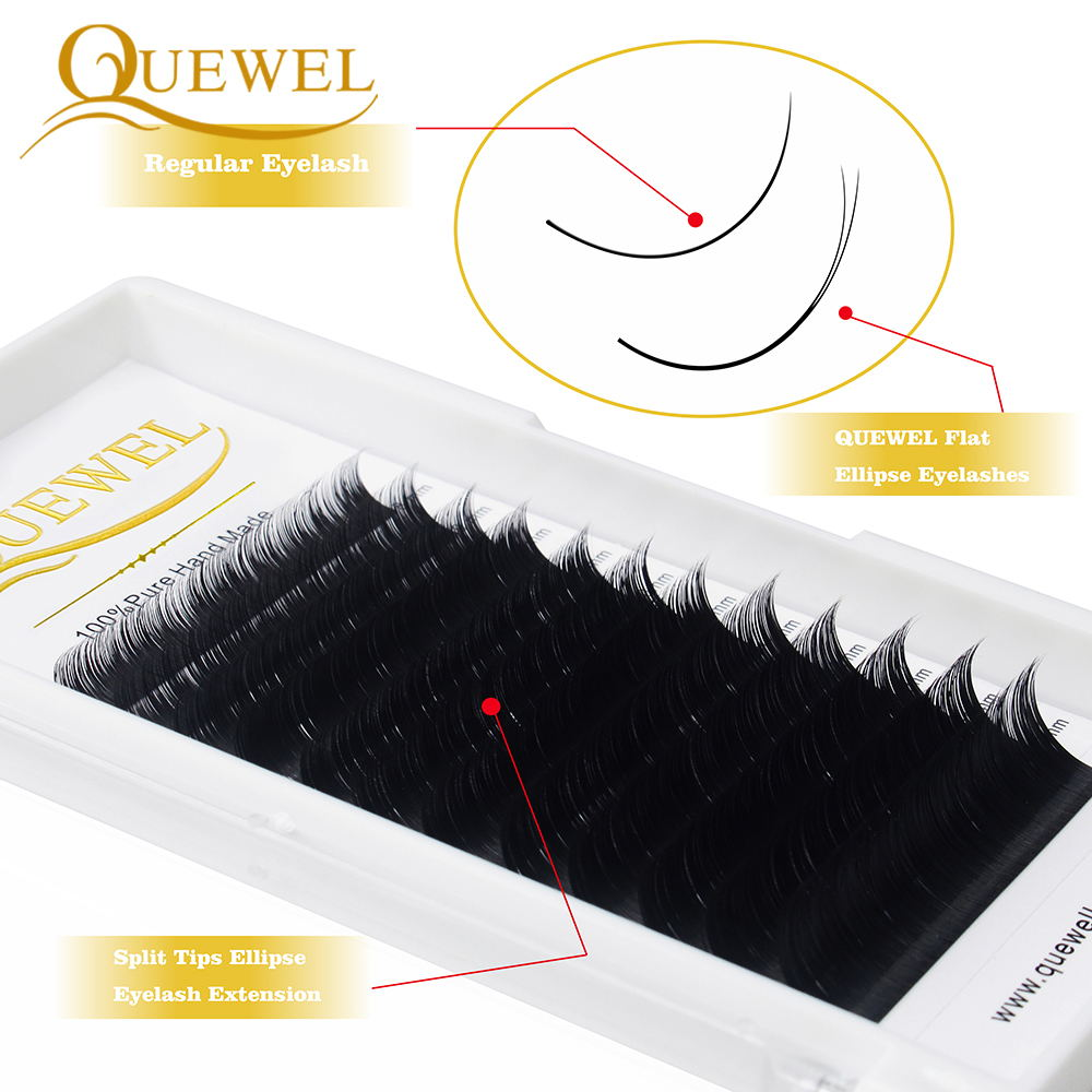 Quewel liso elipse extensão de cílios postiços