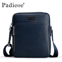 Padieoe Hot Sale Men's Business Shoulder Bag Luxury Designer Genuine Leather Casual Small Crossbody Bag Messenger Bags