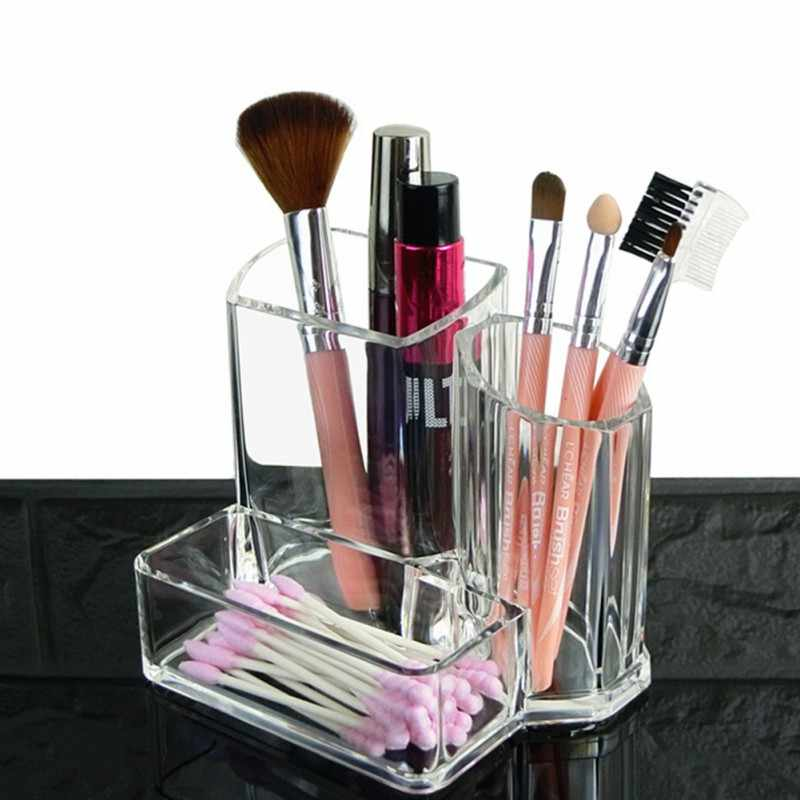 High Quality Makeup Brush Pattern Office Home Makeup Brush Storage Box Pencil Pen Holder Plastic