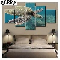 5pcs 5d Diy Full Diamond Painting Cross Stitch Animals Turtles Bderoom Decor 5d Square Diamond Embroidery