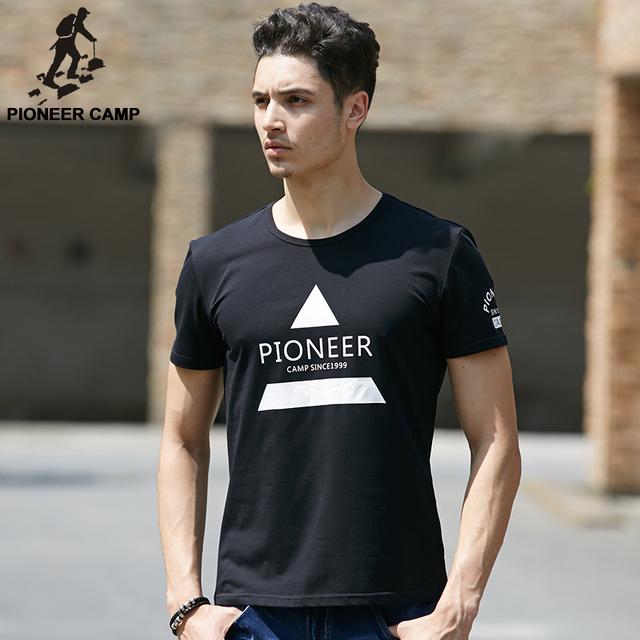 Pioneer camp 2017 clothing homens camiseta moda verão fina e macia Camisa impressa T Homens O Pescoço Tshirt Aptidão Para A Juventude 622076