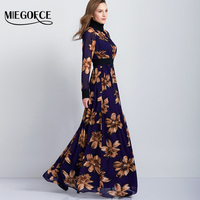 MIEGOFCE New Arrivla Woman S Long Dress In The Floor Elegant Fashion Long Sleeved Printed Bohemian