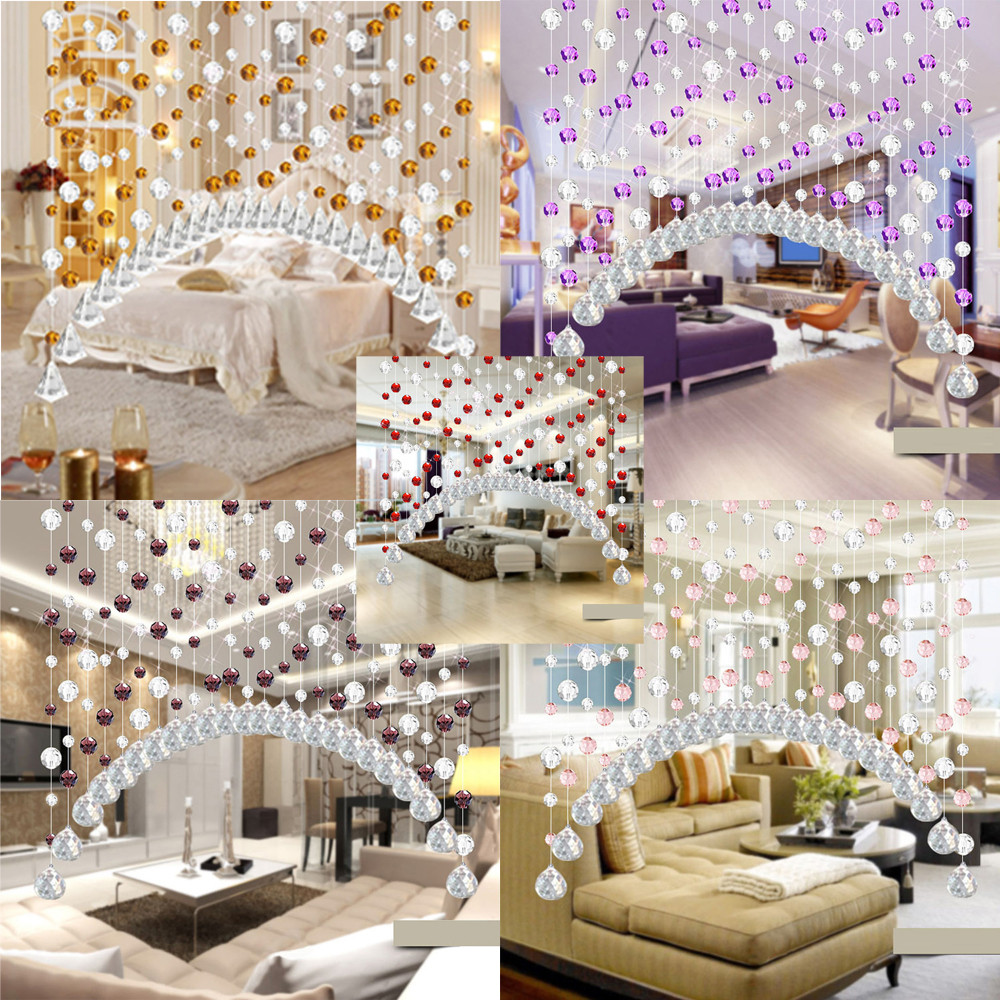 Ouneed Crystal 1pcsglass Bead Curtain Luxury Living Room Bedroom Window Door Wedding Decor23 2017 Hot Sale Roller Blinds
