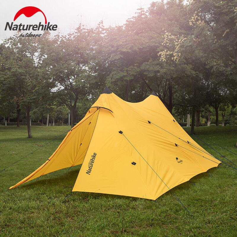 Nature randonnée grande famille Camping tentes imperméable auvent tente 20D silicone pêche en plein air pique-nique partie plage Gazebo tente auvent