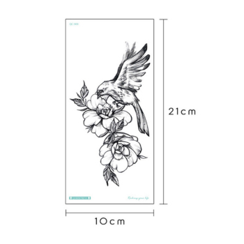 temporary tattoo sticker flower peony rose sketches tattoo designs sexy girls model tattoos arm leg black henna stickers women 1
