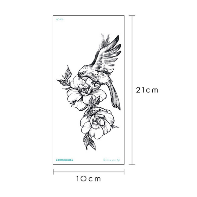 temporary tattoo sticker for men shoulder tattoos black sketches tattoo designs shoulder arm sleeve tattoo fake boys body art 5