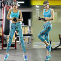 2016 Seamless Women's  Bra Tops and Leggings 2 Piece Set Printed   Female Suit