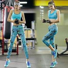 2016 Seamless Women's  Bra Tops and Leggings 2 Piece Set Printed   Female Suit