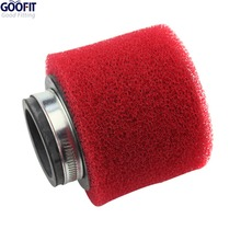 GOOFIT 38mm Red Air Filter for ATV Dirt Bike and Go Kart P091-098