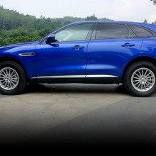 ABS Chrome Door Side Molding Cover Decoration Trim Strip Garnish For Jaguar F-pace
