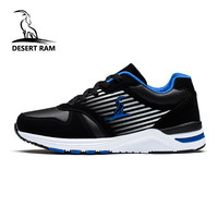 DESERT RAM Brand High Top Man Sneakers Black Shoe Mens Fashion Male Footwear Mesh Leather Spring