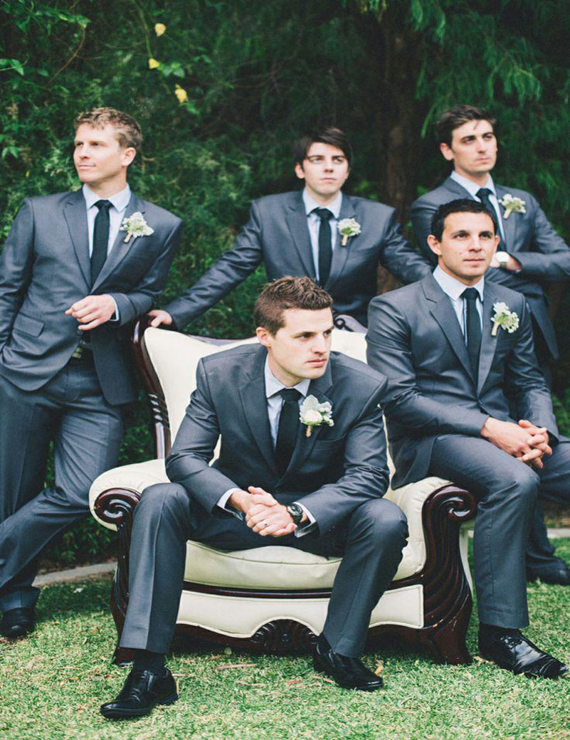 Bright Black Groom Tuxedos 2018 Official Wedding Suits Two Pieces ...