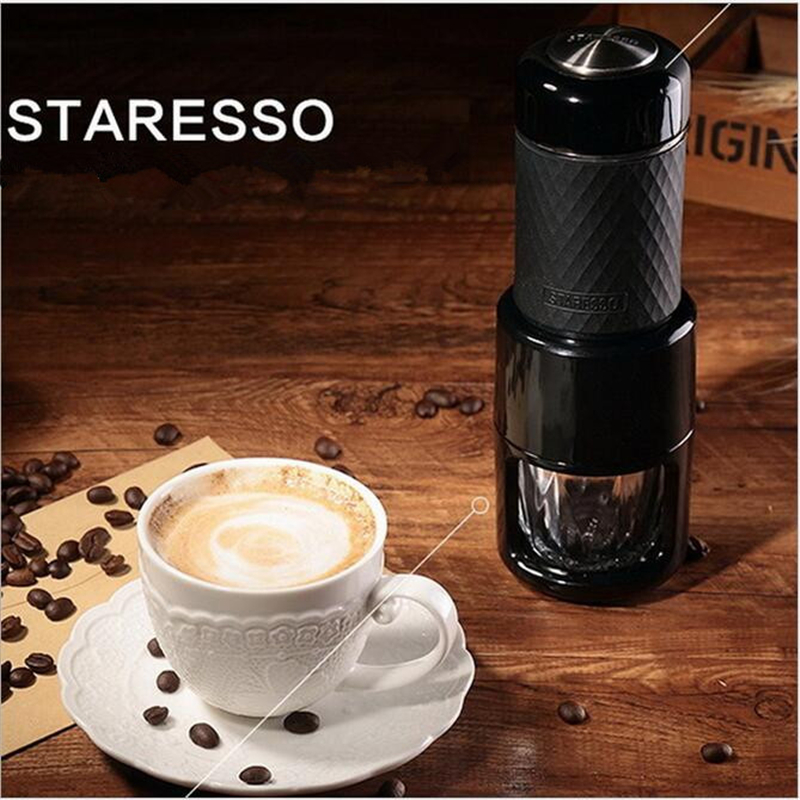 Mini Portable Manual Espresso Coffee Maker Capsule Coffee Machine Milk Foam Coffee Machine Rich Milk Bubble Handheld Pressure 220v commercial single double head milkshake machine electric espresso coffee milk foam frother machine bubble maker