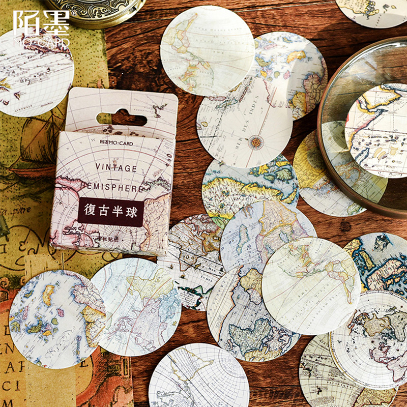 45 Pcs/Box Vintage map globe mini decoration paper sticker decoration DIY album diary scrapbooking label sticker45 Pcs/Box Vintage map globe mini decoration paper sticker decoration DIY album diary scrapbooking label sticker