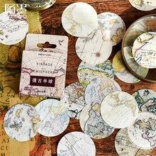 45 unids/caja mapa vintage globo mini decoración pegatina de papel para decoración DIY álbum de recortes diario etiqueta adhesiva
