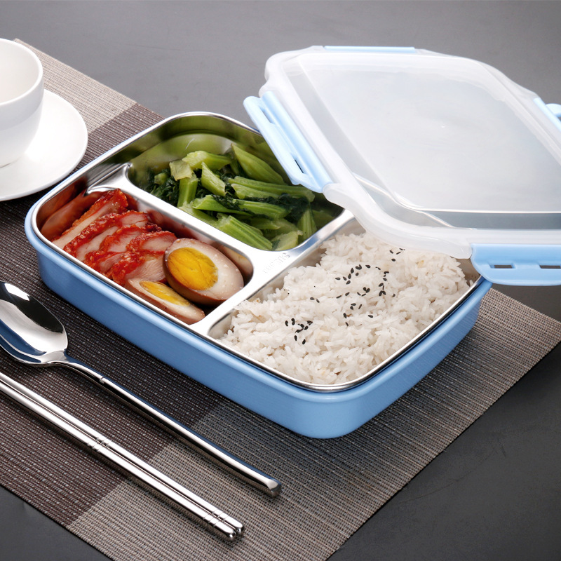 A Kitchen Is Launching An Express Lunch Service: Kitchen Stainless Steel Leakproof Thermos Lunch Box Bento