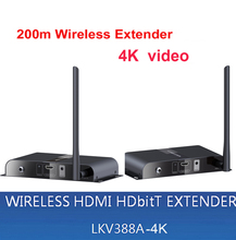 LKV388A-4K Wireless AV HDMI HDbitT Transmitter and Receiver Kit / 656Ft /200M Wireless Extender 4k video transmitter receiver