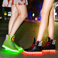 Tenis Led Light Up Shoes Women Casual 2017 Spring/autumn Glow Flat Zapatillas Con Luces Lace-up Chaussure Femme Zapatos De Mujer