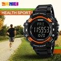 Skmei homens 3d pedômetro heart rate monitor de calorias contador de fitness rastreador digital display led assistir esportes ao ar livre relógios mens