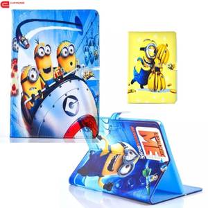 Case For Ipad Mini 3 PU Leather Stand Cartoon Minions Character