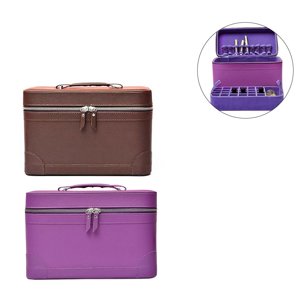 25 Bottles Essential Oil Carrying Case Oil Box Leather 2 Layer Makeup Organizer For Travel Portable Carrying Holder Accessories25 Bottles Essential Oil Carrying Case Oil Box Leather 2 Layer Makeup Organizer For Travel Portable Carrying Holder Accessories