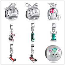 Fairy tale series jewelry making Handmade flowers diy beads Fit pulseira pandora bracelet charms silver 925 original berloque