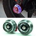 2x motocicleta protectores de caer con luz led marco cnc deslizante anti crash tapas para honda suzuki yamaha kawasaki ktm motocross