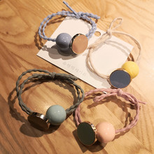 4 piece set women's hair accessories candy color pearl ponytail girl head rope elastic hair band rubber rope hair ring headwear