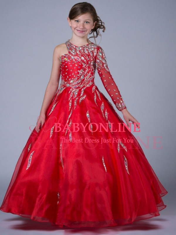 New First Communion Dress For Little Girls Pageant Dresses Red ...