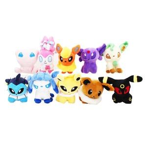 10cm 10 style Eevee Mew Plush Toys Q Version Sylveon Umbreon Espeon Jolteon Vaporeon Flareon Glaceon Leafeon Plush Toy for kids