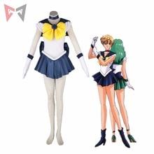 Athemis Anime Sailor Moon Haruka Tenoh / Sailor Uranus Cosplay Costume custom made Dress High Quality athemis gane assassin s creed female assassin cosplay costume custom made set high quality