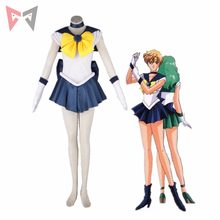 Athemis Anime Sailor Moon Haruka Tenoh / Sailor uran przebranie na karnawał custom made Dress wysoka jakość