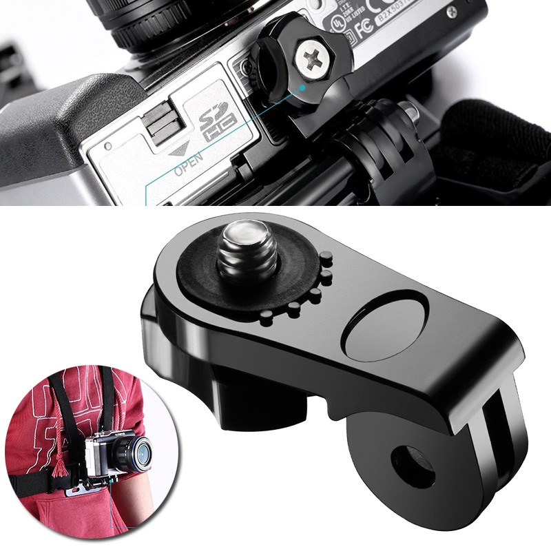 Mayitr Universal Conversion <font><b>Adapter</b></font> <font><b>1/4</b></font> Inch Mini <font><b>Tripod</b></font> <font><b>Screw</b></font> <font><b>Mount</b></font> for Sport Action Cameras For GoPro Accessories image