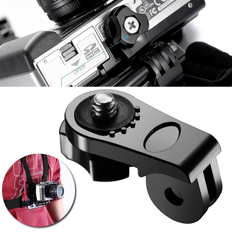 Mayitr evrensel dönüşüm adaptörü 1/4 inç Mini Tripod vida dağı spor eylem kameralar için GoPro aksesuarları için
