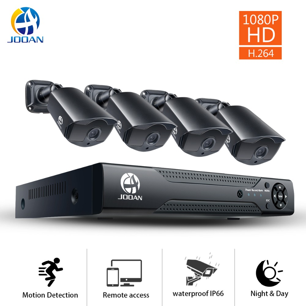 JOOAN 8CH 1080N CCTV DVR Home Security Camera System 4*1080p Waterproof Outdoor IR Light Night Vision Video Surveillance Kit