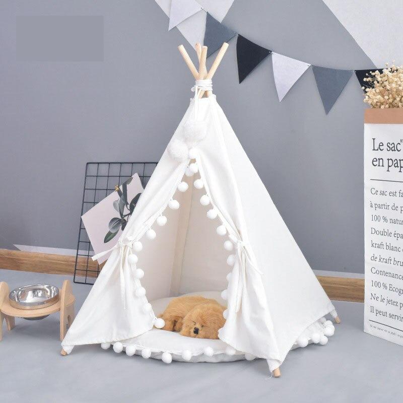 Pet House mignon chien tente extérieur tente Pet chien maison chenils lavable tente chiot chat intérieur extérieur Portable tapis de tipi 2 Styles