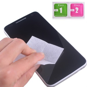 Image 2 - 50pcs Tempered Glass Camera Lens Mobile Phone LCD Screen Dust Removal Tool Dry Wet Alcohol Cleaning Wipes Paper Cloth Cleaner