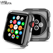 Laforuta Silicone Cover for Apple Watch Case 42mm 38mm Transparent TPU soft Protective cover iWatch Series3/2