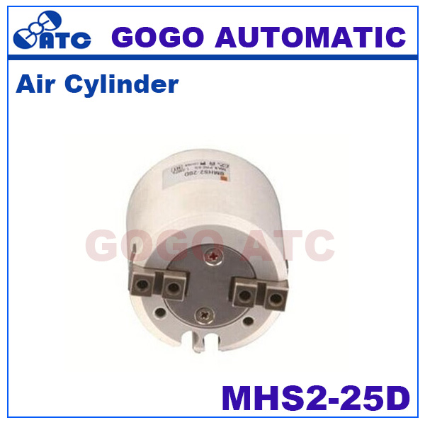 High quality double acting pneumatic gripper Circular MHS2 25D bore 25mm SMC type Parallel Style Two